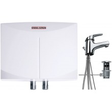 STIEBEL ELTRON DNM 3 ohrievač vody 3,5kW, prietokový, beztlakový, biela  MAE batéria umývadlová, páková, beztlaková