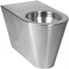 SANELA SLWN14 WC 360x655x400mm, na podlahe stojace, bez sedadla, antivandal, nerez mat