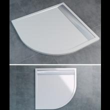 SANSWISS ILA WIQ vanička 900x900x30mm štvorec, vrátane sifónu a krytu, biela/aluchrom