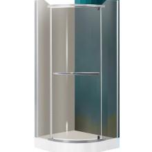 ROLTECHNIK SANIPRO DENVER/900 sprchový kút 900x1950mm štvrťkruhový, s jednokrídlovými otváracími dverami, striebro/rauch
