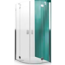 ROLTECHNIK HITECH LINE HBR2/900 sprchový kút 900x2000mm štvrťkruhový, s dvojkrídlovými otváracími dverami, bezrámový, brillant premium/transparent
