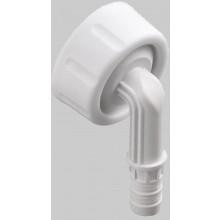 OTTO HAAS pripojovacie hadicové koleno 100 pre prípoj pre kondenzačnú vodu, polypropylén, biela