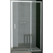 SANSWISS TOP LINE TED sprchové dvere 1200x1900mm, jednokrídlové s pevnou stenou v rovine, matný elox/sklo Cristal perly