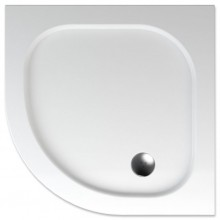 TEIKO PELEUS sprchová vanička 90x90x3,5cm, R50cm, štvrťkruh, akrylát, biela