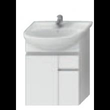 JIKA LYRA skrinka pod umývadlo 540x315x696mm, biela / biely lak 4.5312.2.038.300.1