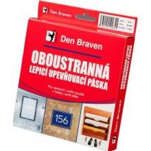 DEN BRAVEN upevňovacia páska 25x1mm, lepiaca, obojstranná, v krabičke, biela