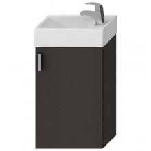 JIKA PETIT skrinka s umývatkom 386x221x585mm, sivá / sivá 4.5351.1.175.301.1