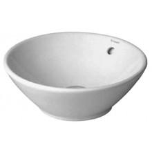 DURAVIT BACINO umývadlová misa 420mm bez otvoru, s prepadom, biela 0325420000