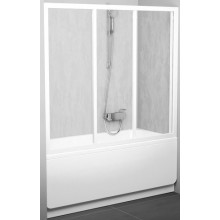 RAVAK AVDP3 180 vaňové dvere 1770x1810x1370mm trojdielne, posuvné, satin/rain