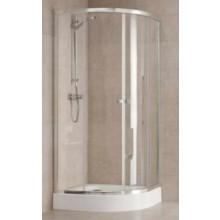 KOLO FIRST štvrťkruhový sprchovací kút 900x1900mm posuvné dvere, strieborná lesklá/satin