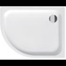 JIKA TIGO vanička sprchová keramická 1000x800x85mm asymetrická, pravá, biela 8.5221.1.000.000.1