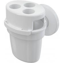 CONCEPT lievik pre odkvapkávajúci kondenzát, s guličkou a držiakom hadičiek, biela