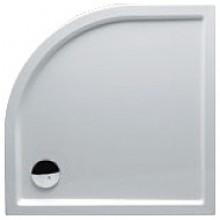 RIHO ZÜRICH 284 sprchová vanička 100x100x4,5cm, štvrťkruh, bez podpier a bez panela, akrylát, biela