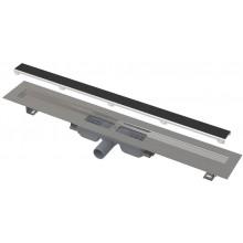 ALCAPLAST APZ115 MARBLE LOW podlahový žľab 1110mm, bez okraja s roštom pre vloženie dlažby, nerez oceľ