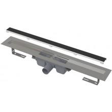 ALCAPLAST APZ15 MARBLE podlahový žľab 1210mm, bez okraja s roštom pre vloženie dlažby, nerez