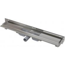 CONCEPT 100 FLEXIBLE LOW podlahový žľab 1010 mm s okrajom, s nastaviteľným golierom ku stene, nerez