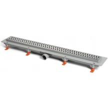 EASY lineárny žľab 850mm, bočný, podlahový, s plastovým rámikom, s nerezovým roštom