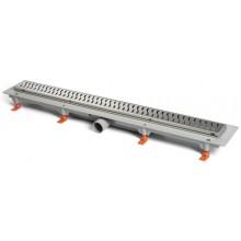 EASY lineárny žľab 750mm, bočný, podlahový, s nerezovým rámčekom, s nerezovým roštom