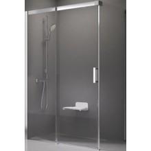 RAVAK MATRIX MSDPS 100x80 L sprchové dvere 1000x800x1950mm, s pevnou stenou, alubright/transparent