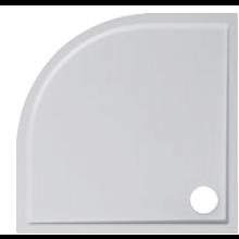 JIKA PADANA vanička sprchová z liateho mramoru 900x900x30mm štvrťkruhová, R550mm, biela 2.1193.3.000.000.1
