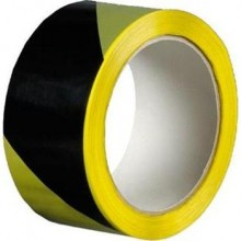 DEN BRAVEN výstražná páska 50mmx66m, samolepiaca, pravá, čierno-žltá