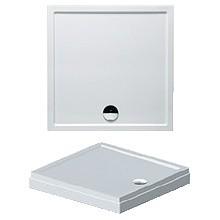 RIHO DAVOS 253 sprchová vanička 100x90x4,5cm, obdĺžnik, vrátane panelu a nožičiek, akrylát, biela
