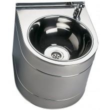 SANELA SLUN14 pitná fontánka 330x380x300mm, závesná, s tlačnou armatúrou, nerez lesk