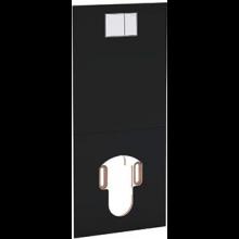 GEBERIT AQUACLEAN krycia doska 47,5x106cm pre montáž pred nádržku, sklo čierne