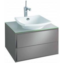 KOHLER ESCALE skrinka 600x515x357mm pod umývadlo, 2 zásuvky, gloss titanium EB762-N21