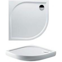RIHO KOLPING DB14 sprchová vanička 90x90cm štvrťkruh, vrátane sifónu a podpier, protišmyk, liaty mramor, biela
