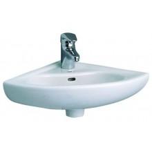 CONCEPT 100 rohové umývadlo 400x400mm s otvorom, biela alpin 6093L003-0001