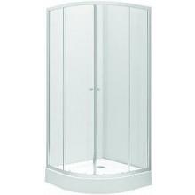 KOLO FIRST sprchový kút 800x1900mm, štvrťkruhový, posuvné dvere, číre sklo/strieborná lesklá