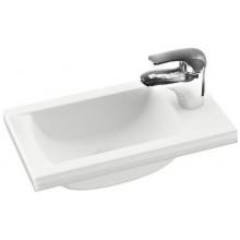 RAVAK CLASSIC MINI umývadielko nábytkové, rohové 400x220mm z liateho mramoru, biela