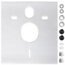 CONCEPT izolačná doska 390x5x426mm, pre závesné WC a bidet, biela