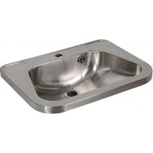 SANELA SLUN26 umývadlo 560x420x160mm, závesné, s otvorom, s prelismi na mydlo, nerez
