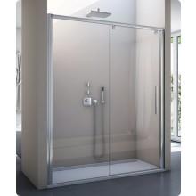 SANSWISS PUR LIGHT S PLS2 sprchové dvere 1200x2000mm jednodielne posuvné, s pevnou stenou v rovine, pevný diel vľavo, aluchrom/číre sklo Aquaperle