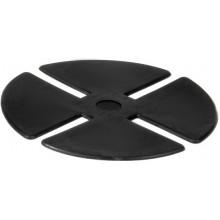 ALLIQ PEDALL GUM gumová podložka na terče 1,5mm, pr.100mm, čierna