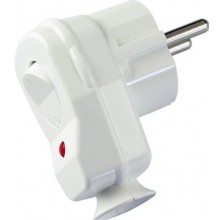 CONCEPT vidlica s vypínačom 16A / 250V VS-BIELA