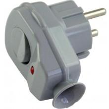 CONCEPT VS vidlica s vypínačom 16A/250V šedá