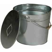 LIENBACHER nádoba na popol 340x300x240mm s vekom, pozink