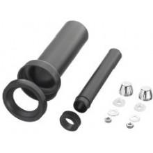 OTTO HAAS závesná pripojovacia WC súprava DN90/110, 300mm, s možnosťou zvárania, polyetylén, čierna