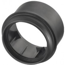 OTTO HAAS prechodka DN110/90 k pripojovaciemu kolenu, k PE-závesnému WC, s možnosťou zvárania, polyetylén, čierna