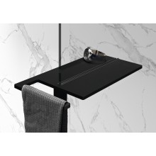 HÜPPE SELECT+ shower board, polička s držiakom na uteráky, black edition