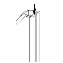 HÜPPE SELECT+ kit pre 6mm sklo, 2000mm, strieborná pololesklá