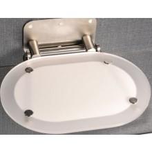RAVAK OVO CHROME sedátko 410x365x95mm do sprchovacieho kúta, chrome clear/stainless