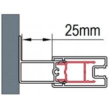 SANSWISS ACT1 rozširovací profil 1900x25mm, aluchrom
