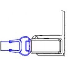 CONCEPT 200 montážny set/magnetické tesnenie 2000mm, do niky, aluchróm