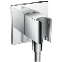 """HANSGROHE FIXFIT prípojka hadice Square G1/2"""", so sprchovacím držiakom, chróm"""