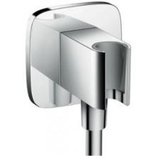 HANSGROHE FIXFIT PORTER E sprchový držiak G1/2xG1/2 so zabudovanou prípojkou pre hadicu, chróm
