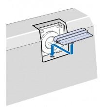"""VILLEROY & BOCH SQUARO EDGE 12 napúšťanie prepadom, doplnok k štandardnej prepadové sade """"vodopád"""""""